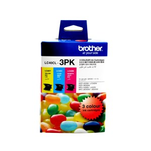 Brother LC-40 Tri Colour Ink Cartridges Value Pack