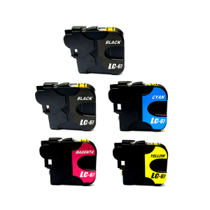 Compatible Brother LC-67 Five Colour Value Pack