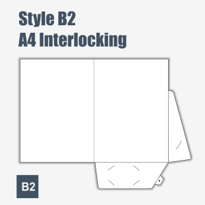 PRESENTATION FOLDERS - INTERLOCKING B-3