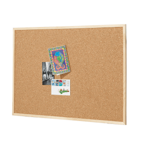 QUARTET CORKBOARD PINE FRAME 600X900MM