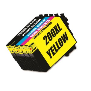 Compatible Epson 200XL Black and Colour Cartridges Inks Value Pack