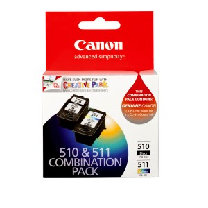 Canon PG-510 + CL-511 Twin pack Genuine Ink Cartridges