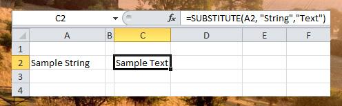 Substitute function