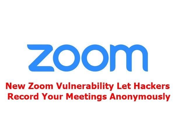 new zoom vulnerability