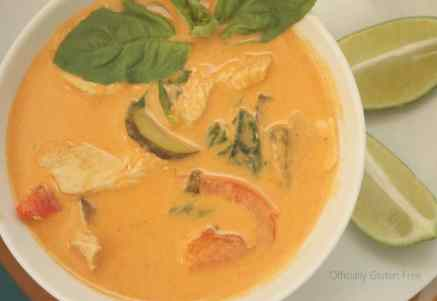 Thai Coconut Curry Soup with Chicken