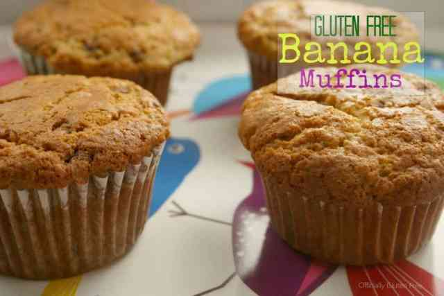 Banana Chocolate Chip Muffins Gluten Free