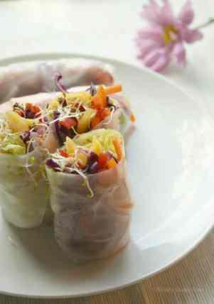 Mango Salad Rolls