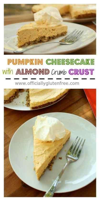 Pumpkin Cheesecake with Almond Crumb Crust