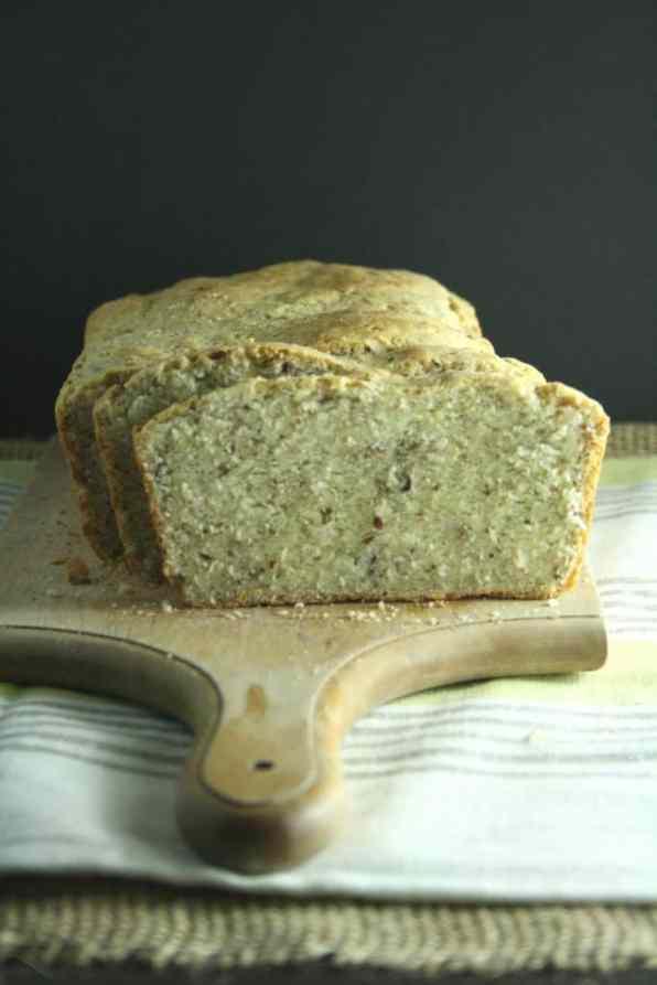 No Knead Flax Bread