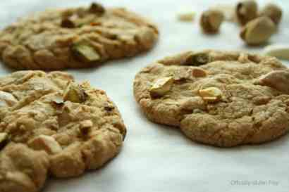 White Chocolate Pistachio Cookies