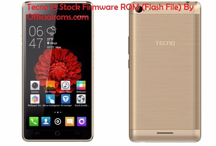 Tecno L8 Stock Firmware ROM (Flash File)