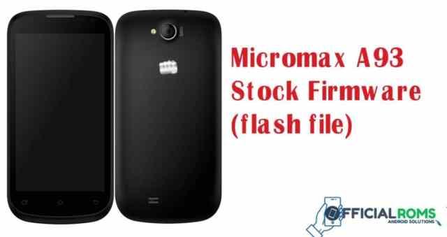 Micromax flash file