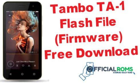 Tambo TA-1 Flash File (Stock ROM) - Official Roms