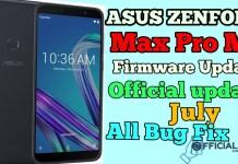 ASUS Zenfone Max Pro M1 Firmware update  056 July 2019-ZB601KL