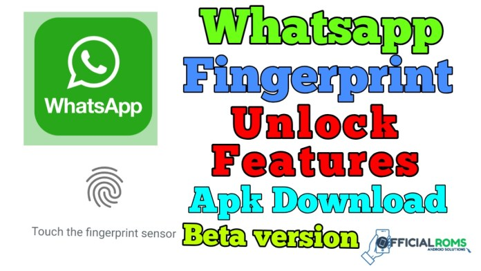 WhatsApp Receives Fingerprint Unlock Feature apk Download