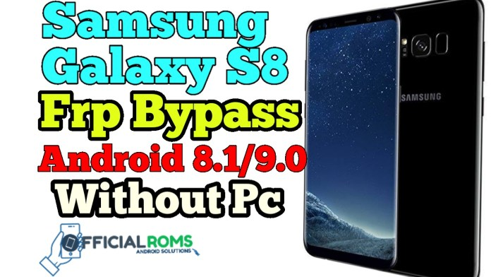 samsung s8 frp bypass Oreo 8.0/8.1 Google Account Remove Without Pc