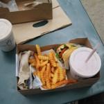 Shack Burger + franskar og shake