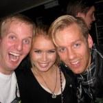 Bjössi, Elísabet og Frikki hress á Kaffibarnum