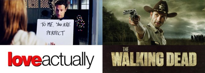 Mindblown: Andrew Lincoln in Love Actually and The Walking Dead