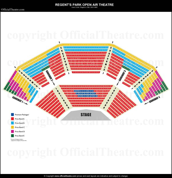 the buell theatre seating chart | Wallseat.co
