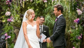 The recessional order officiant eric exchange of wedding rings junglespirit Gallery
