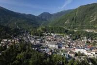 Cure thermale Ax-les-Thermes - Vue aérienne du village