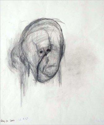 William Utermohlen, Autoritratto, 2000.