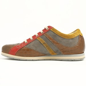 Sneakers in pelle bicolore