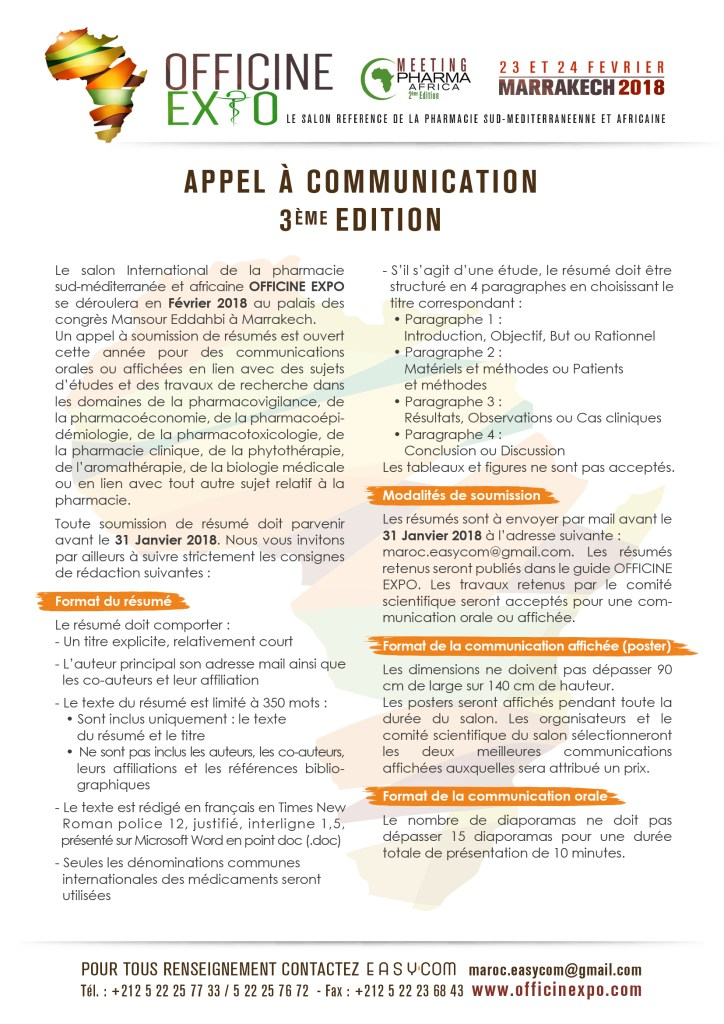 APPEL A COMMUNICATION