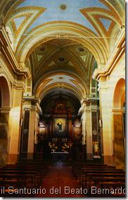 la navata centrale del Santuario del Beato Bernardo