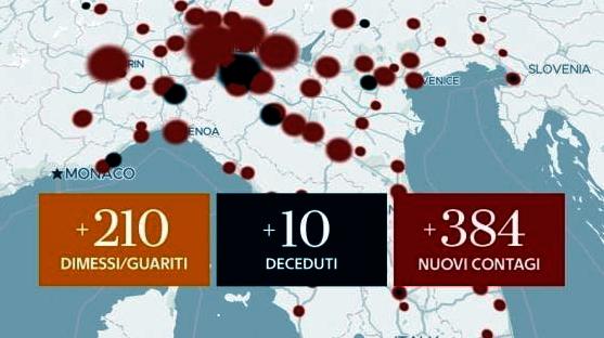 Covid, Italia: anche oggi aumento dei contagi   Offida info