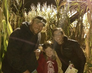 Autumm, Hattie and I in a corn maze at the Farmstead in Kuna, Idaho.