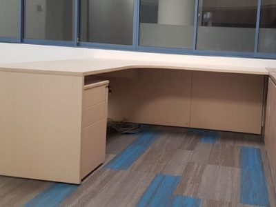 Temasek Polytechnic Phase 1A for Logistics Construction -  Free Standing Laminated Director's Desk