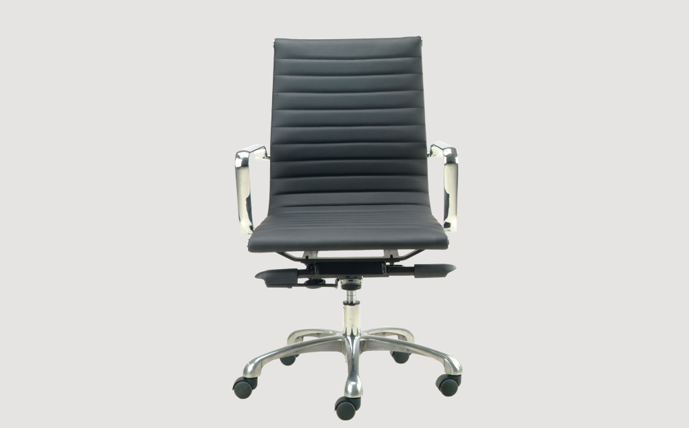 ergonomic mid back office chair chrome frame black seat chrome chair legs