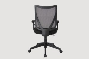 ergonomic mid back office chair black frame black seat mesh back castor wheels