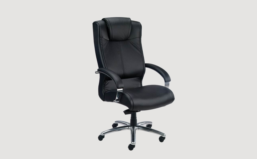 ergonomic high back office chair black frame black seat leather castor wheels