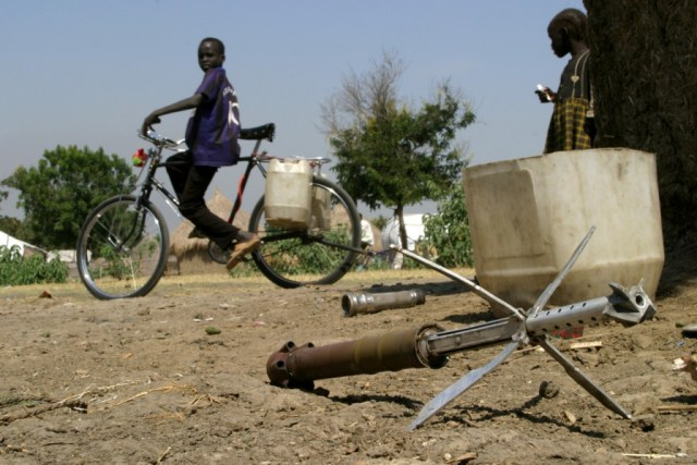 Unexploded ordinance in the South Sudanese town of Malakal. U.N. photo