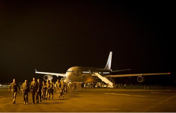 French soldiers arrive in Bangui (Photo: French Ministry of Defense).