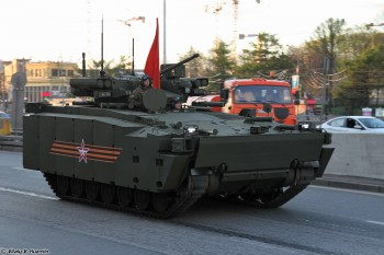 A Kurganets-25 Infantry Fighting Vehicle at a rehearsal prior to the 2015 Victory Parade in Moscow. (Photo: Vitaly V. Kuzmin).