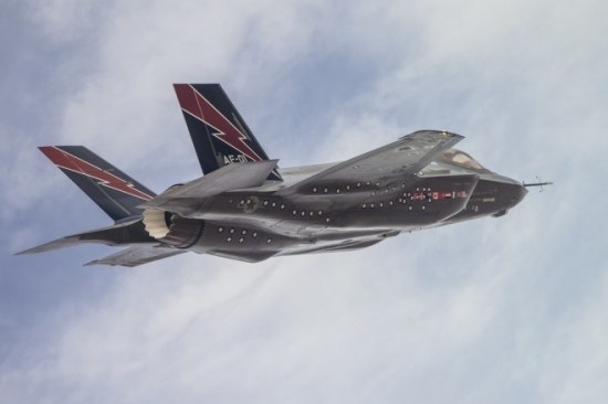 An F-35 during flight tests. <em>Photo: Lockheed Martin</em>