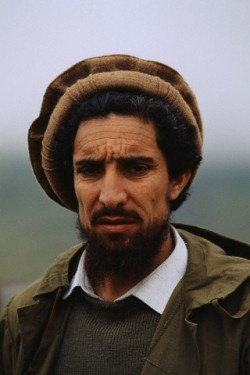 Ahmad Shah Massoud at his military headquarters in Charikar. Massoud's mujahideen forces are fighting the Taliban to the north of Kabul. (Photo: Patrick Robert/Sygma/Corbis).