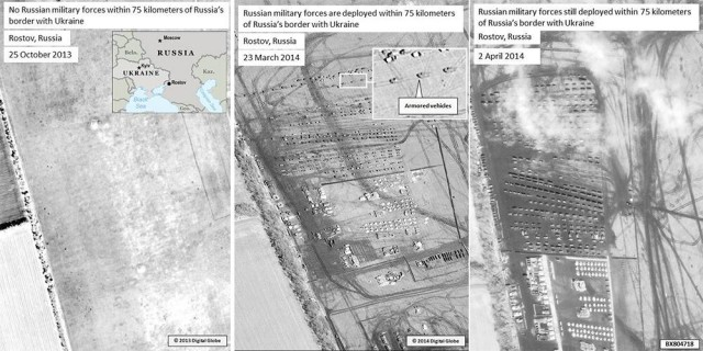 Russian military forces within 75 kilometres of Russia's border with Ukraine near Rostov (click on the image for more details).
