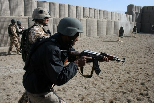 U.S. and Romanian Special Forces train Afghan Provincial Response Company, Laghman Province, Feb. 9, 2012. David Axe photo.