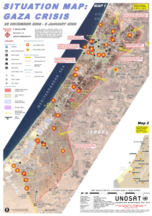 Situation Map-Gaza Crisis (as of 5 January 2009)
