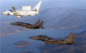 The ROKAF operates two Boeing 737 Peace Eye Airborne Early Warning and Control (AEW&C) aircraft and 52 F-15K Slam Eagle fighter jets.