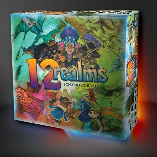 12 Realms board game box