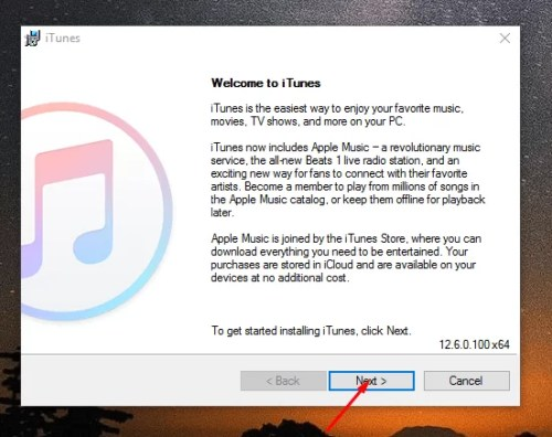 iTunes for PC