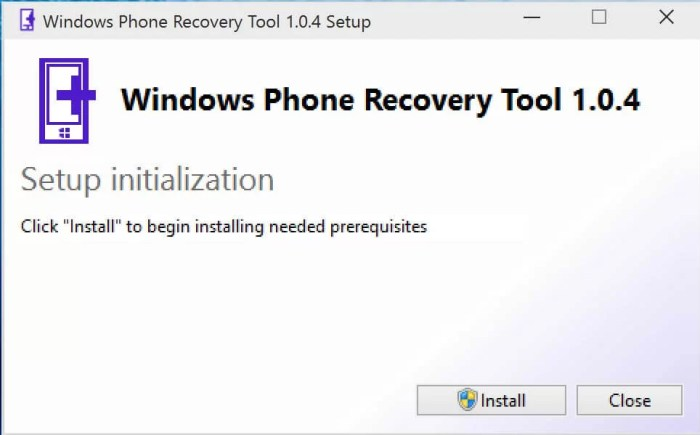 DownloadWindows Phone Recovery Tool Offline Installer
