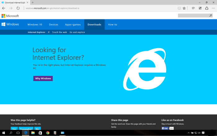 Download Internet Explorer 10 Offline Installer